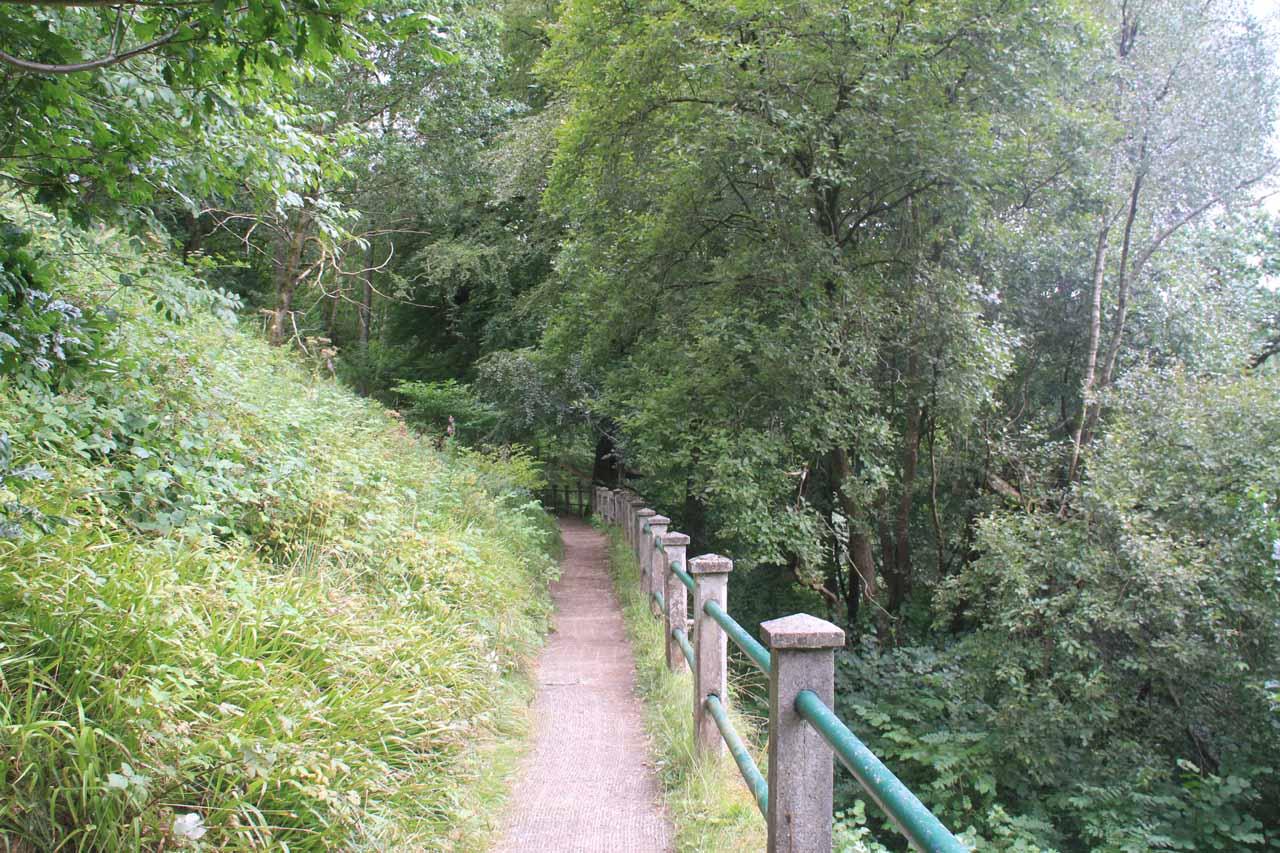 The trail continuing beyond the views of Cora Linn