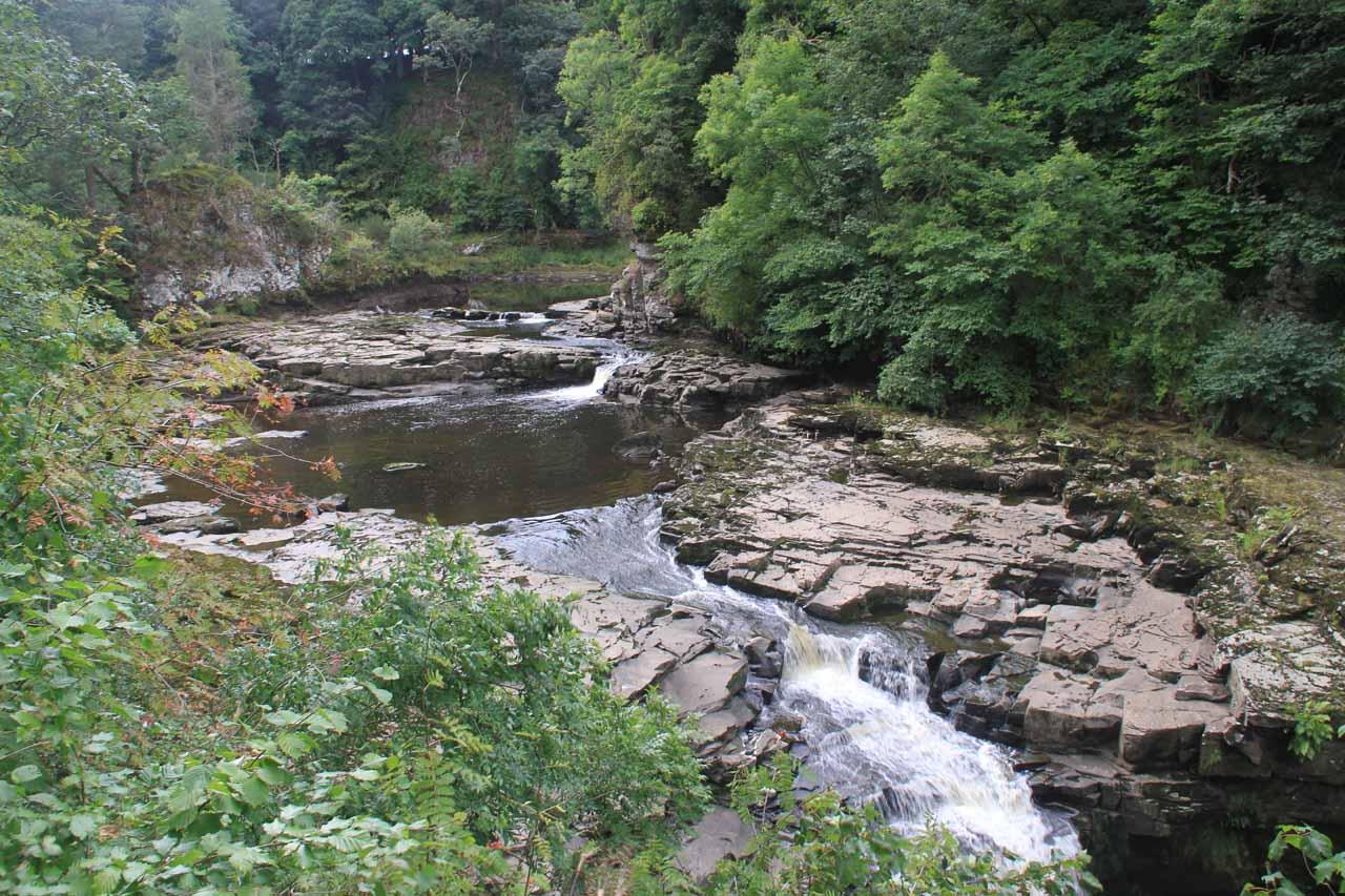 The small gorge upstream of Cora Linn