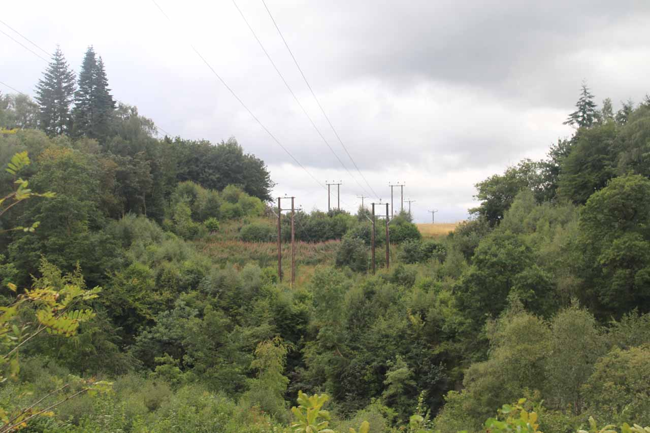 Hiking beneath power lines, as I'm sure the power produced here must go somewhere