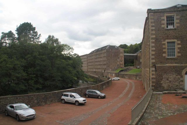 Falls_of_Clyde_131_08202014 - Looking back at the industrial buildings of New Lanark, which I initially thought was one of the most unlikely places to have a UNESCO World Heritage designation