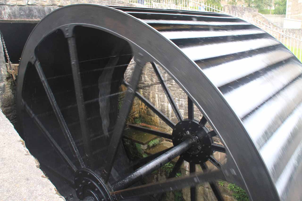 A closer look at the waterwheel at Mill Number Four