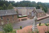 Falls_of_Clyde_159_08202014 - Looking past a World War I memorial towards New Lanark