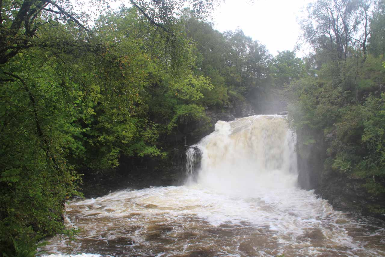 The Falls of Falloch in full spate thanks to heavy rain