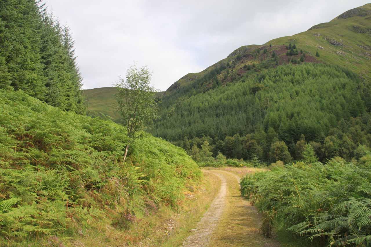 Veering away from the Allt Choinneachain Valley as I continued heading north alongside the Abhain Chonaig Valley