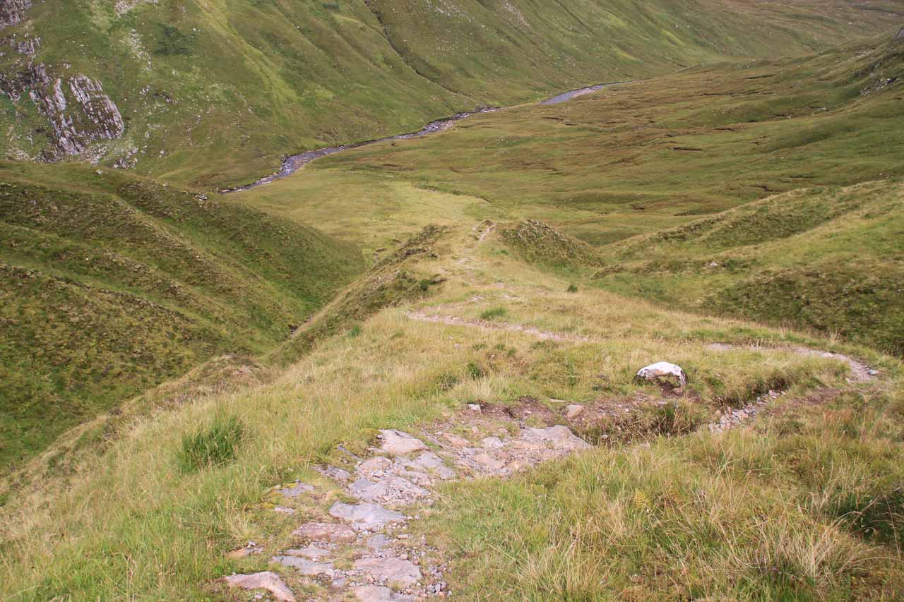 It was a steep climb down into the valley, meaning that it would be a hard climb back up on the way back