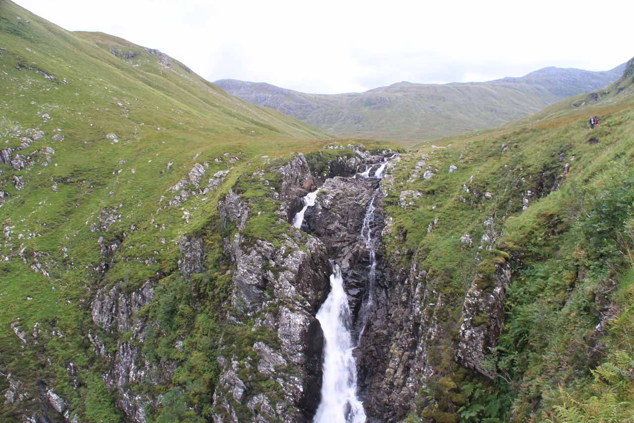 This direct view was my first satisfying view of the Falls of Glomach, but the bottom could not be seen from here