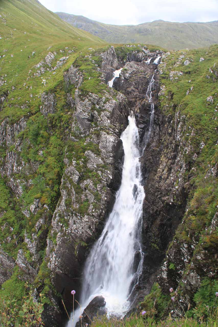 The uppermost main drop of the Falls of Glomach