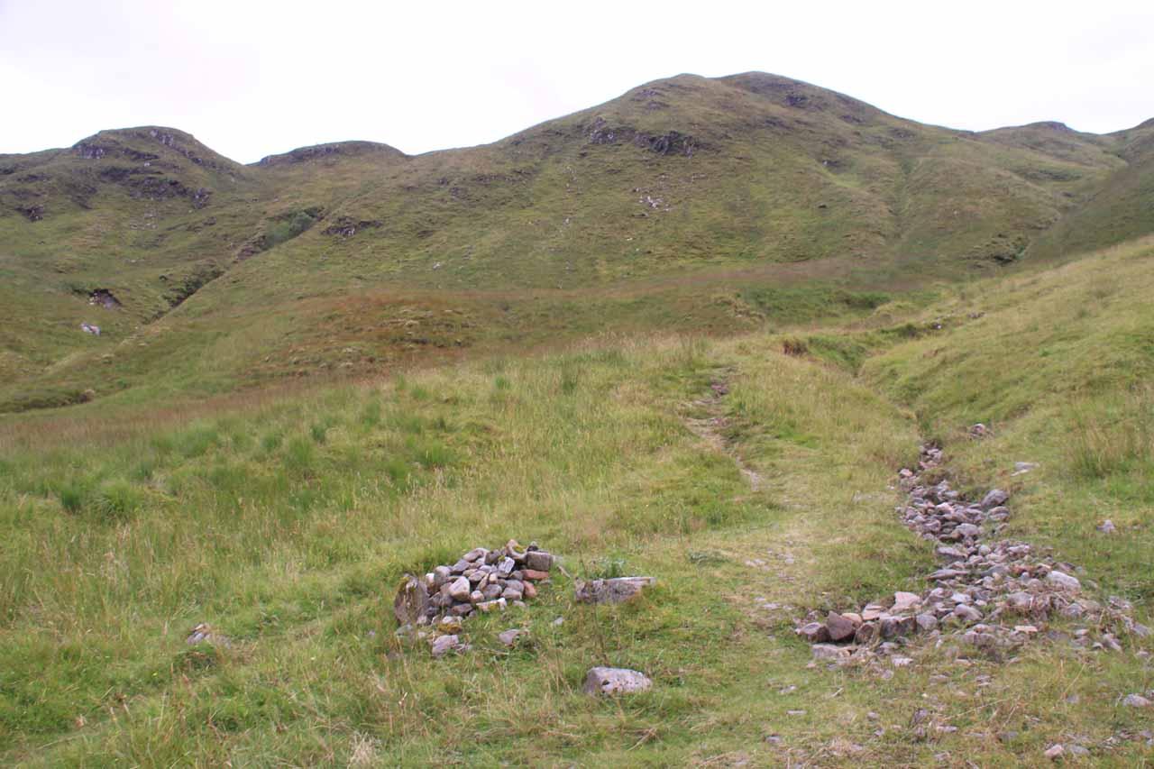 Climbing back up towards the moorish bealach