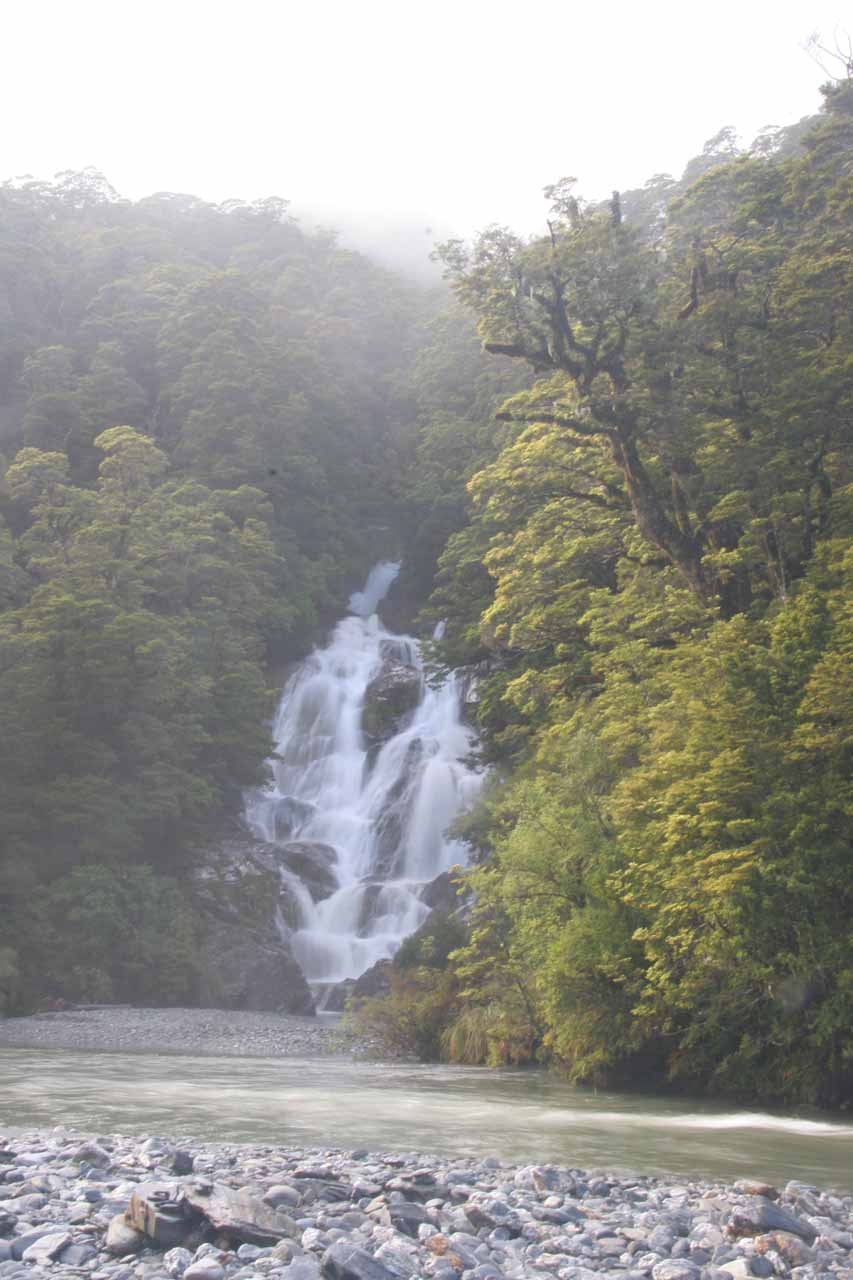 Another look at Fantail Falls as we explored the rocky area around the Haast River