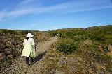 Fardagafoss_013_08102021 - Mom continuing the uphill hike for Fardagafoss