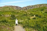 Fardagafoss_028_08102021 - Mom continuing to climb and get closer to the main drops of Fardagafoss