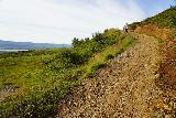 Fardagafoss_035_08102021 - Mom climbing more switchbacks as she progressed closer to the main drops of Fardagafoss