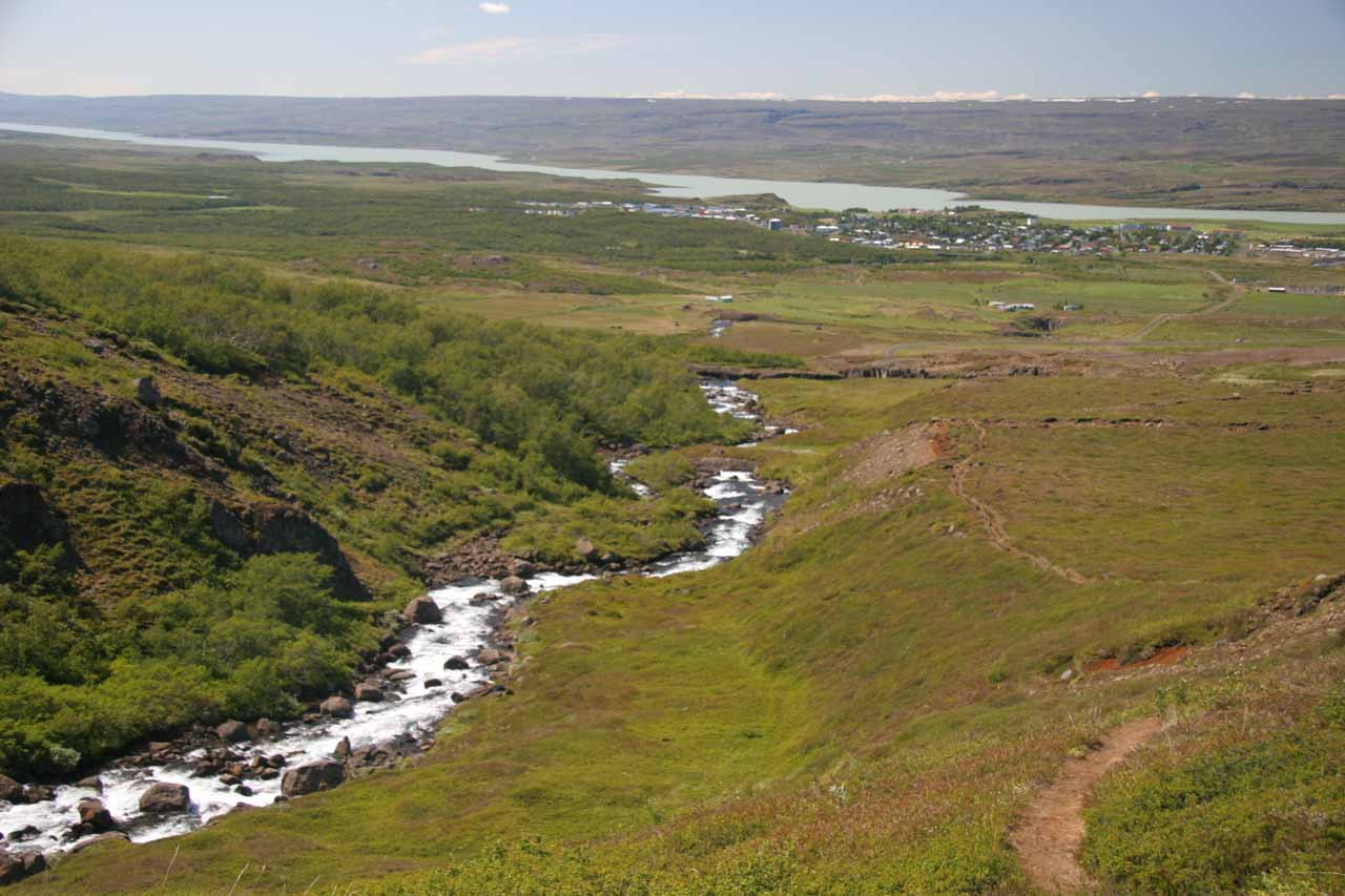 Not long after seeing the Rjukandi Waterfalls, our drive would end at the town of Egilsstadir