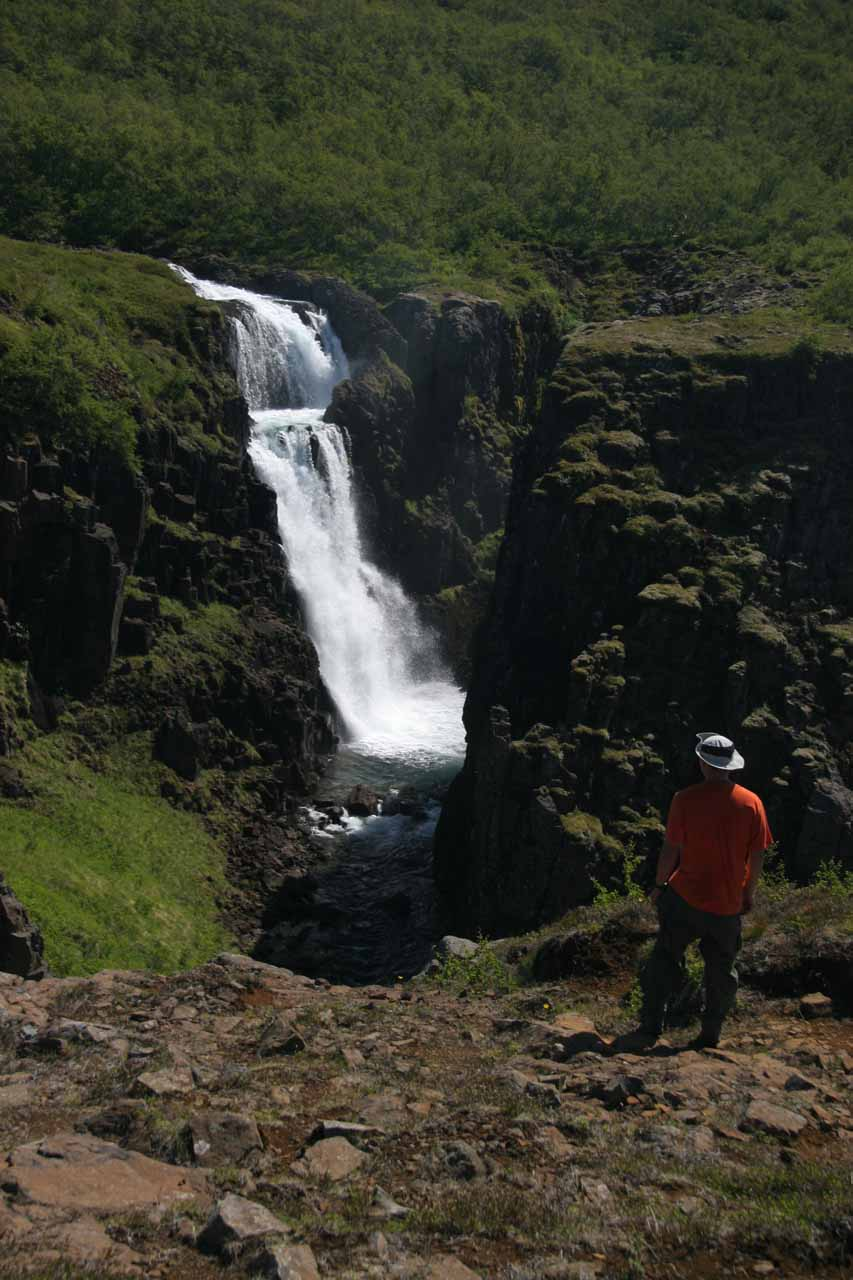 On the way back down to the trailhead, I took the time to enjoy Fardagafoss one last time