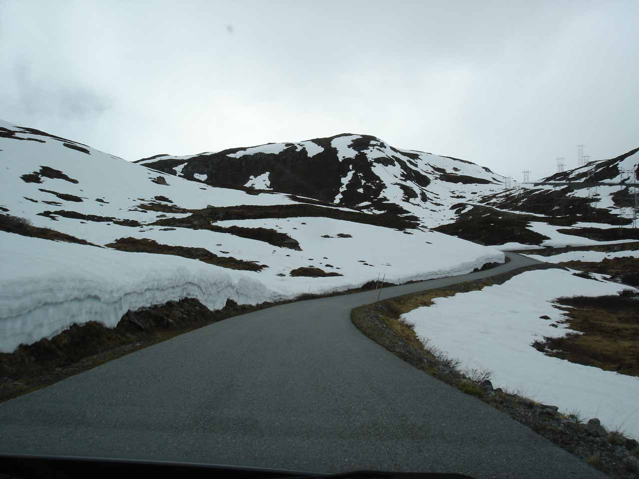 Now we were beyond the valley portion of Fardalen and into the mountain pass where there was still some snow