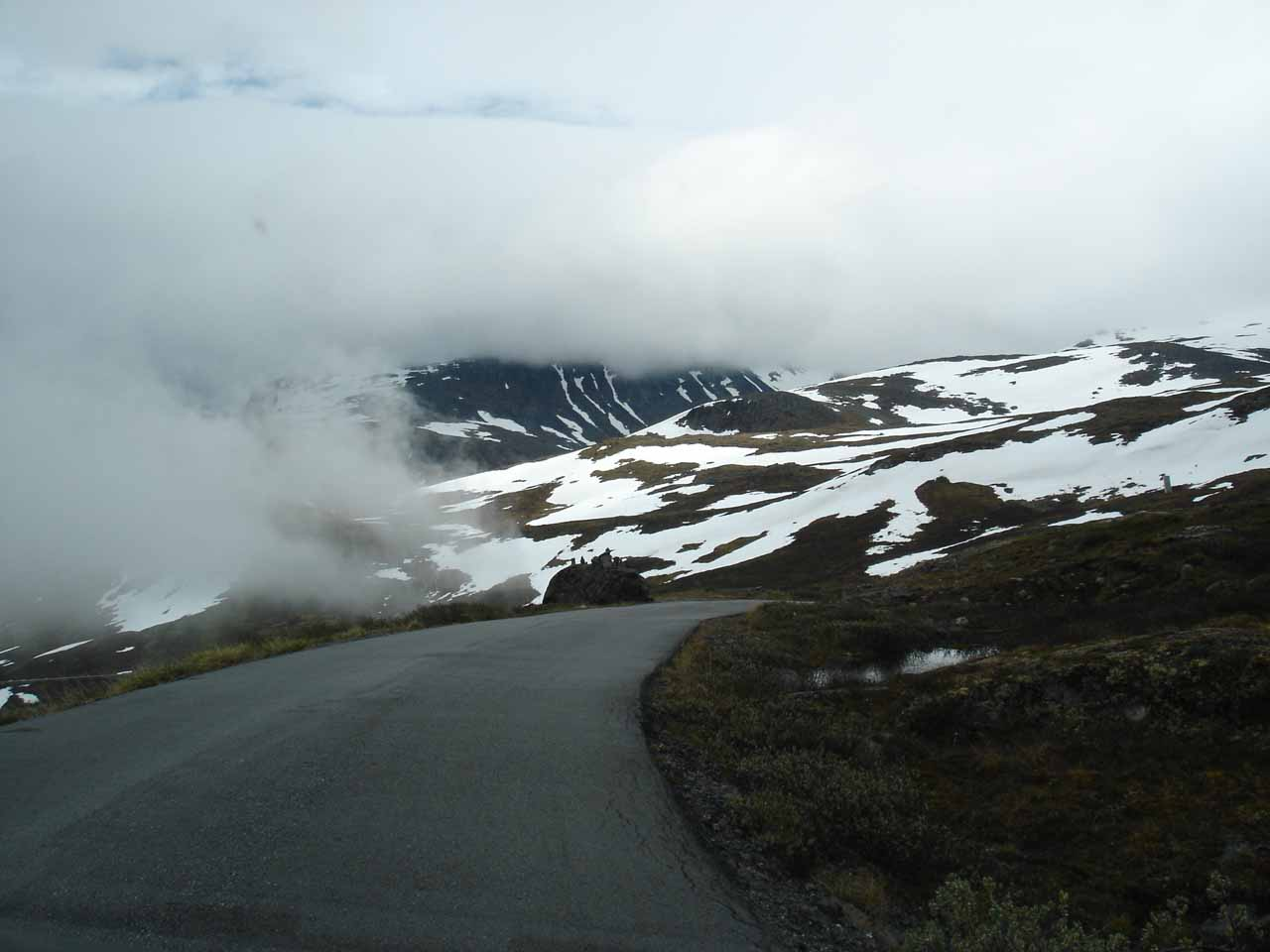 Now, the highland moors route started to descend while the clouds also started to part