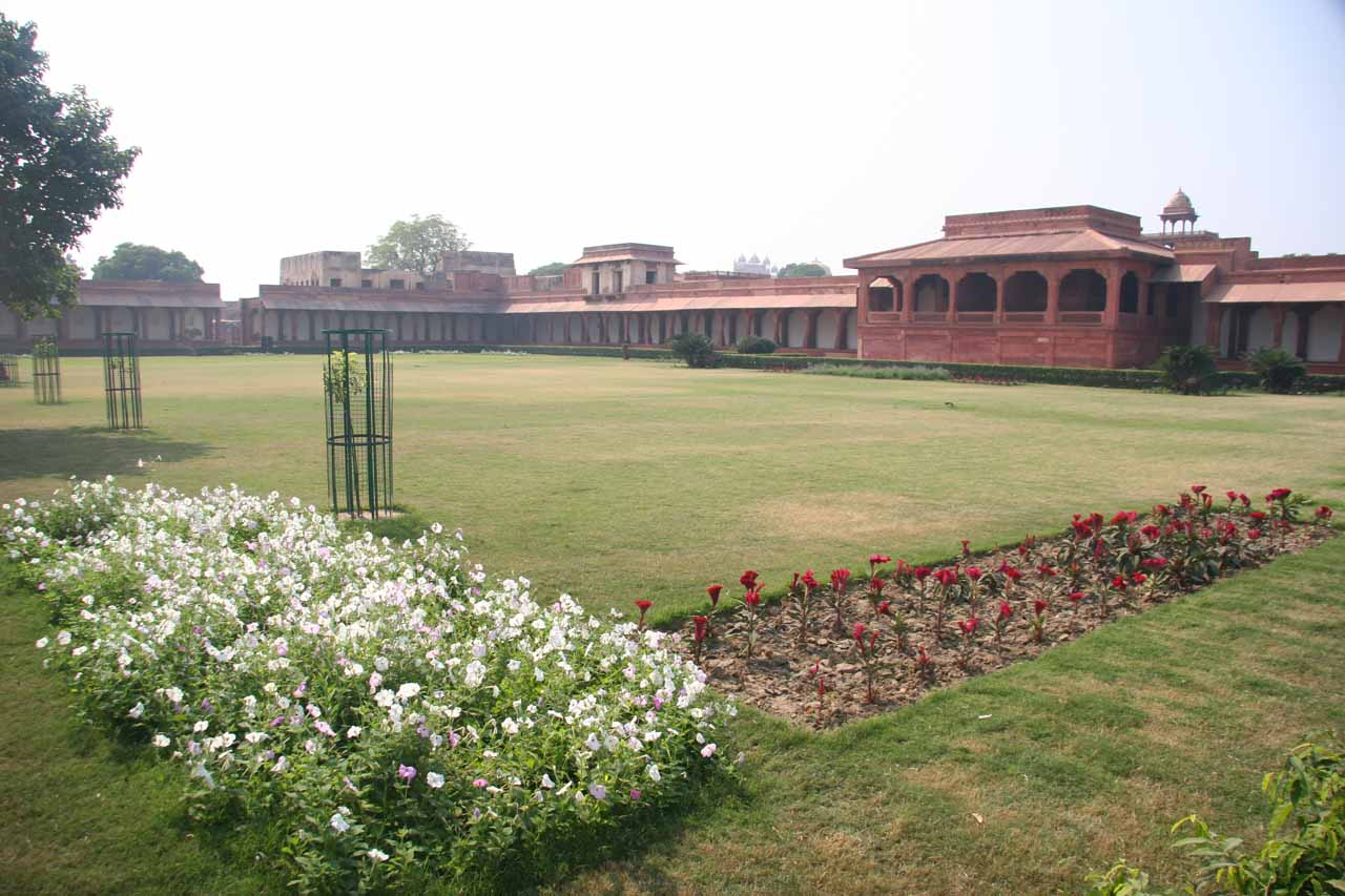A garden somewhere at a corner of Fatehpur Sikri