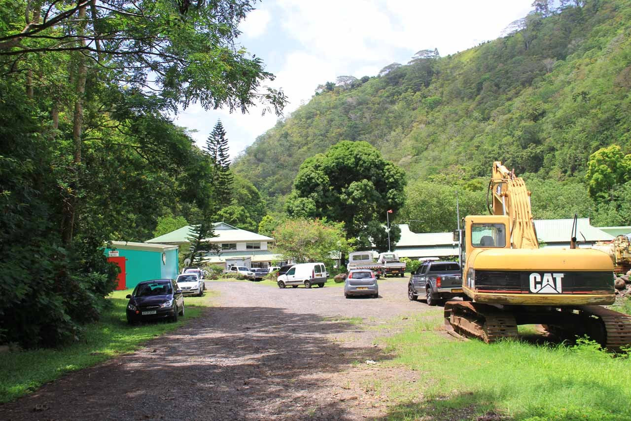Car park at Polynesie des Eaux
