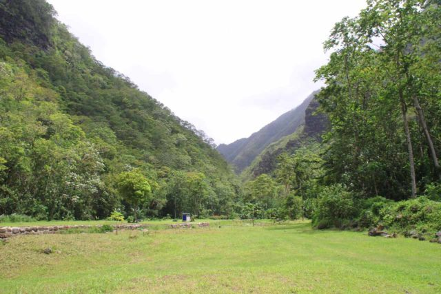 Fautaua_Valley_012_20121214 - Passing by a clearing where the V-shaped contours of the Fautaua Valley can be seen en route to the Cascade de Fachoda or the 'Fautaua Waterfall'