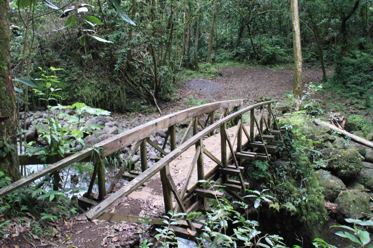 My knees felt much better when I saw this bridge as that meant no more steep downhill hiking