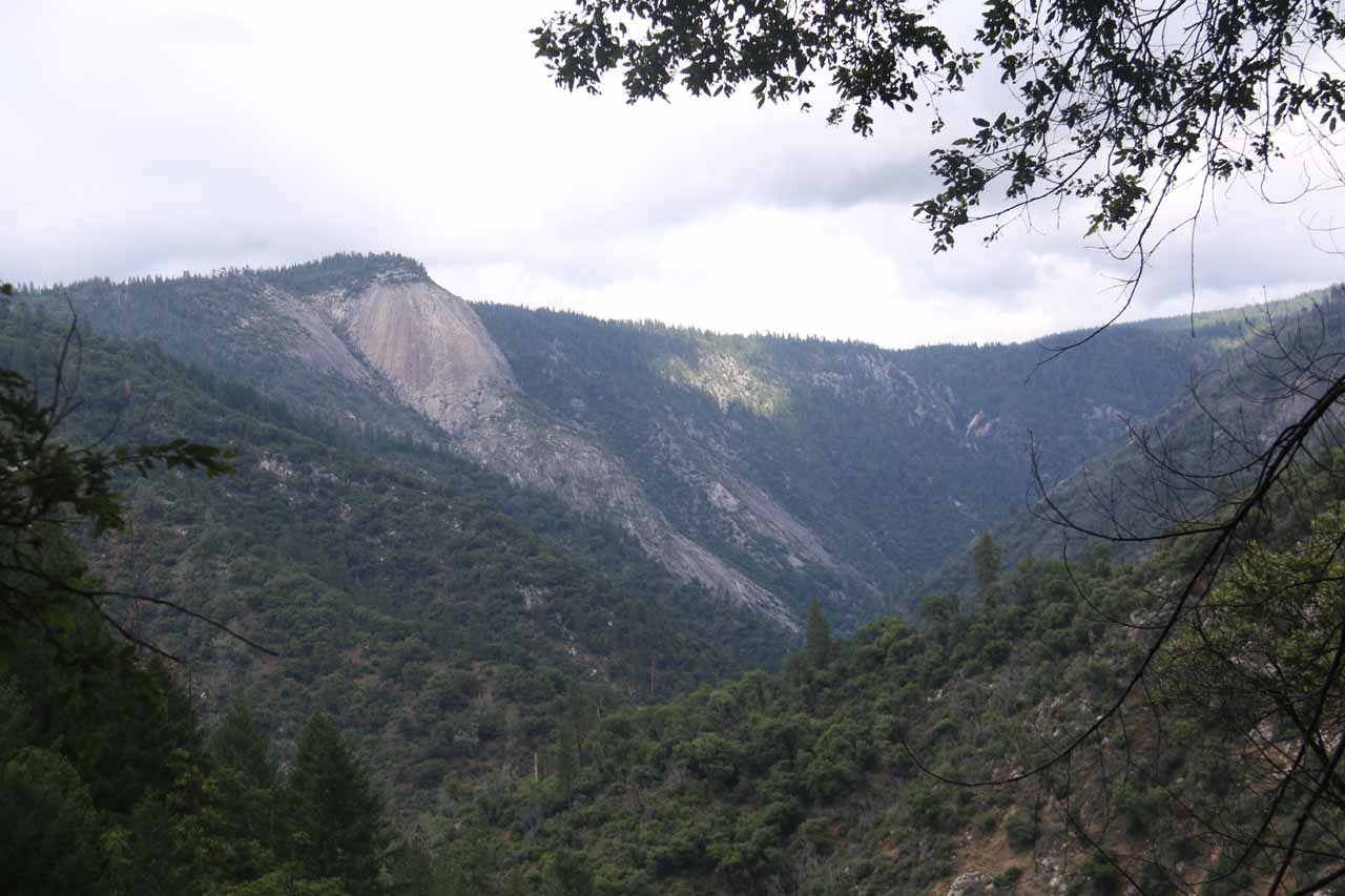 This was the view of Bald Rock Dome from the lower part of the Feather Falls Loop Trail