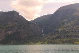 Feigefossen_009_07202019 - Looking across the Lustrafjord towards the full view of Feigefossen