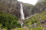 Feigefossen_088_07202019 - Arriving at the end of the trail near the foot of Feigefossen