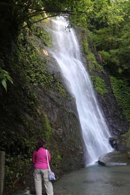 Fenghuang_Waterfall_036_10272016 - Mom checking out the Fenghuang Waterfall in Hualien County