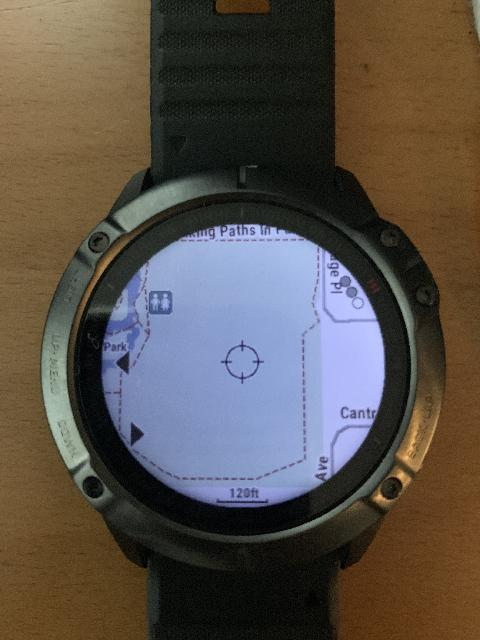 The Garmin Fenix 6X Pro watch already came with a pre-loaded TopoActive Americas, North map so it can be used as a navigational aid right out-of-the-box