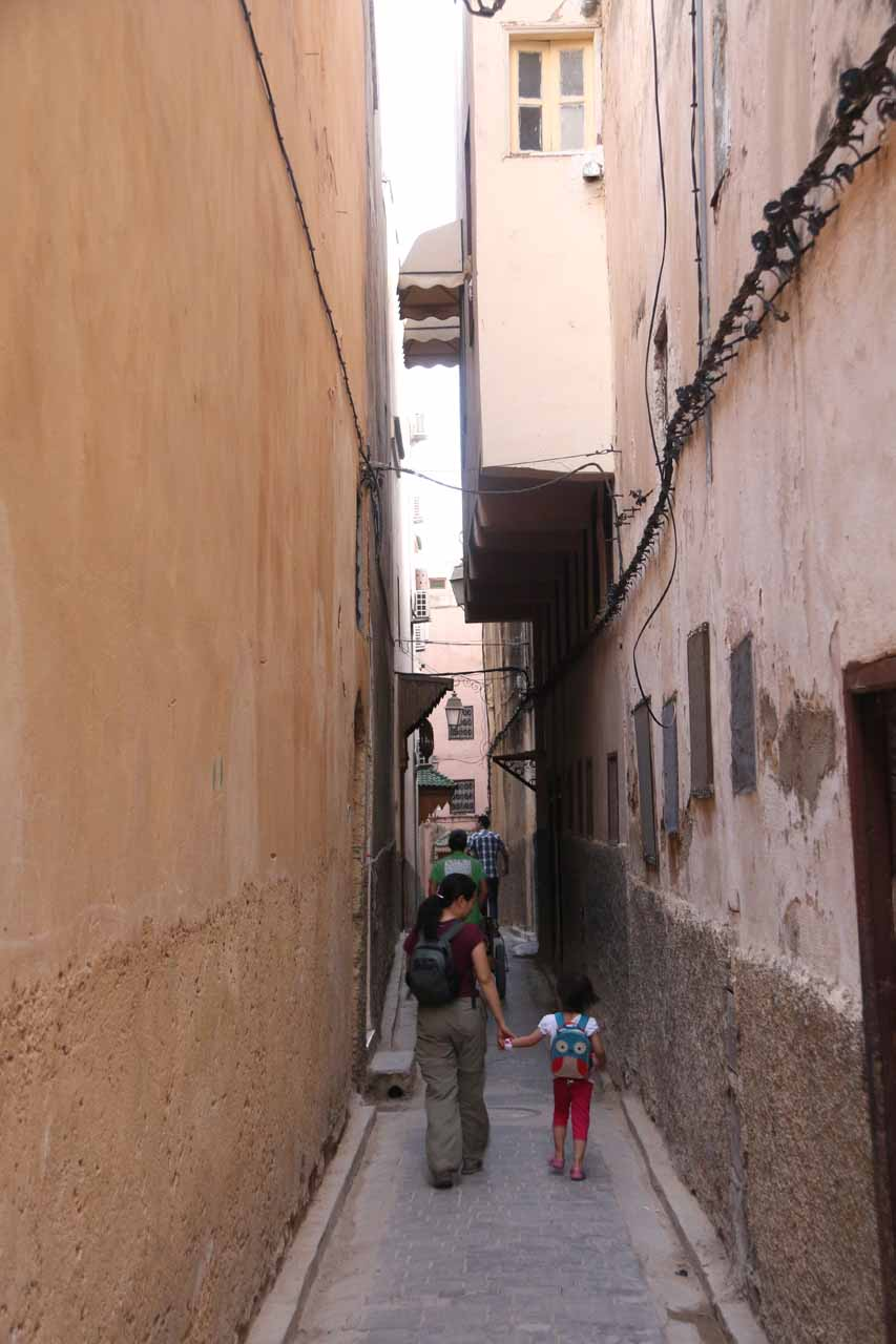 A narrow alleyway leading to our riad in Fes