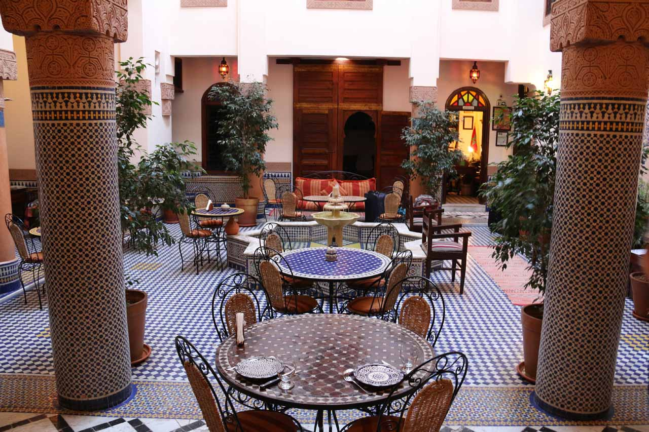 Another look at the atrium of our riad in Fes