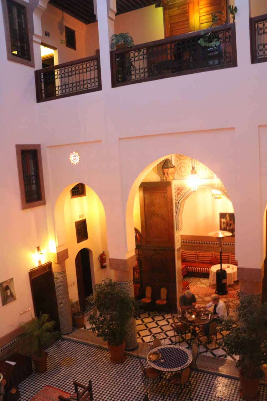 Another look at the impressive atrium inside our riad