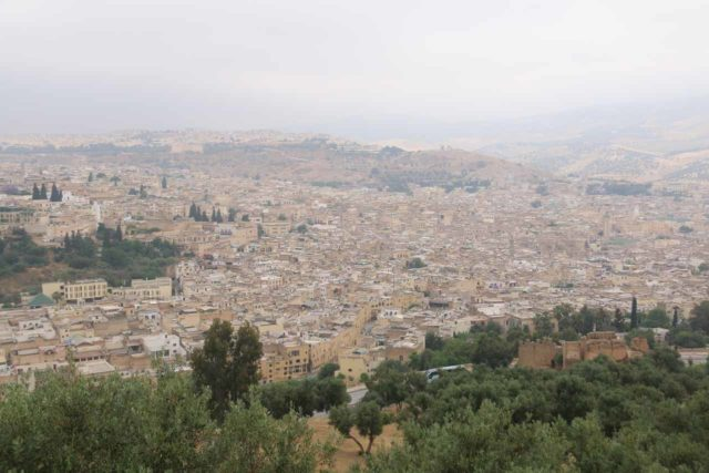 Fes_289_05192015 - Just to give you an idea of just how big the medina of Fes is, this panorama shows just a fraction of it. Imagine the tight alleyways of the medina flanked by tall buildings filling all you see here!