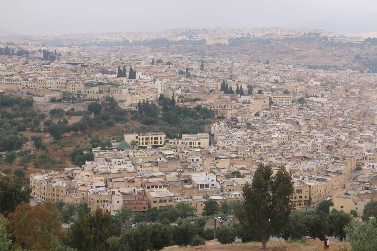 Last look at the vast medina of Fes from the fortress and lookout