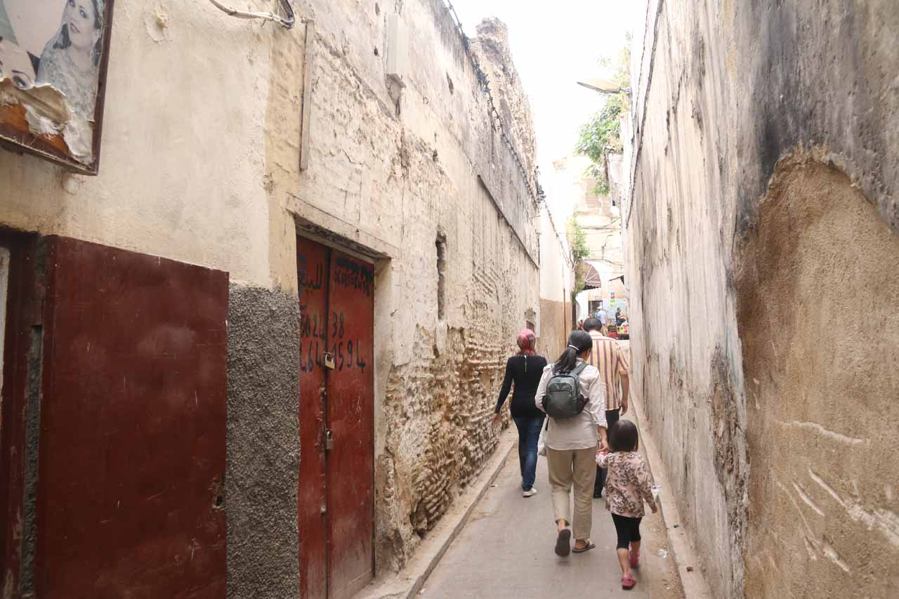 Now Karim was taking us past some very narrow alleyways as we were exploring some hidden corners of the medina of Fes