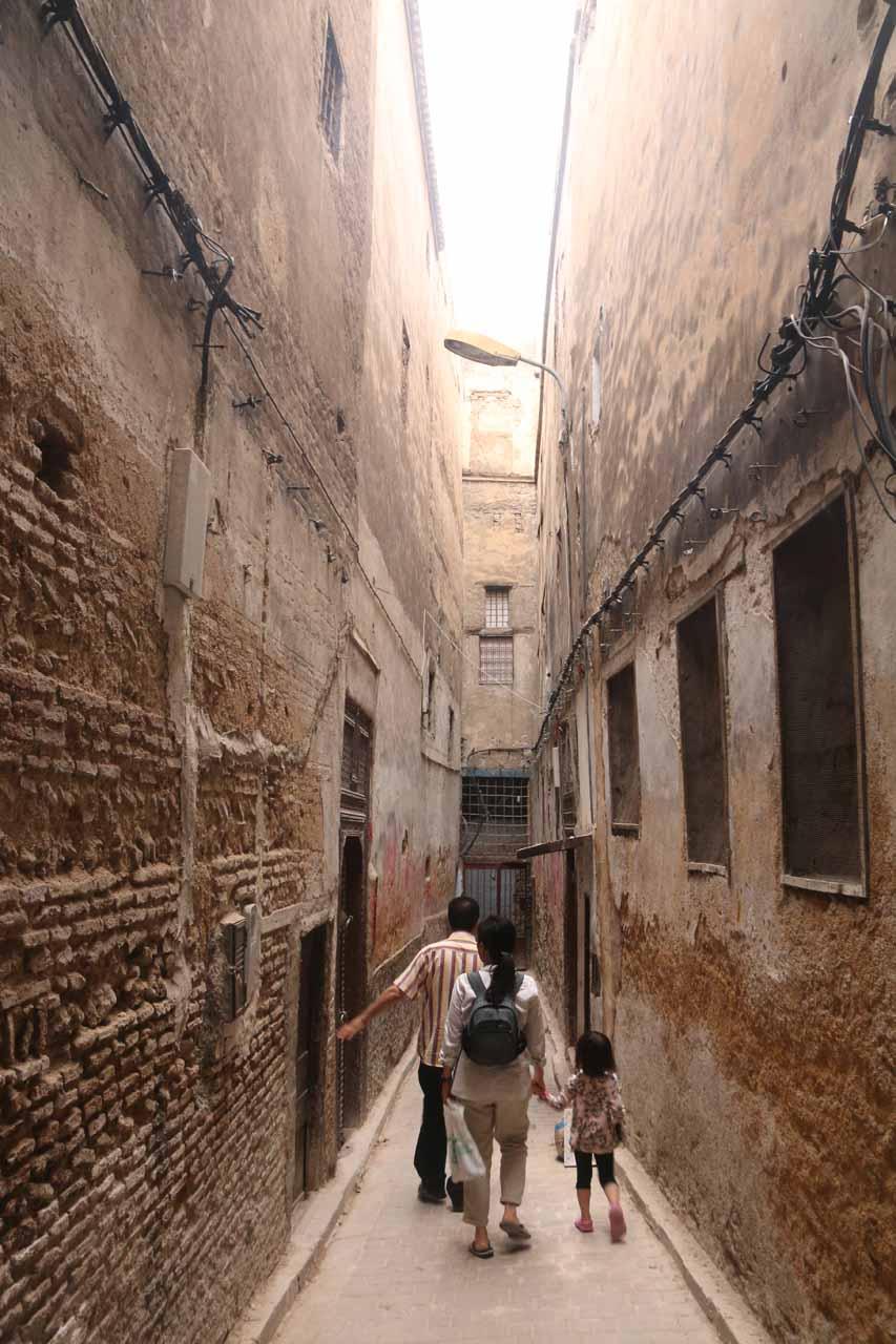 Karim taking us through some pretty narrow alleyways in the medina of Fes