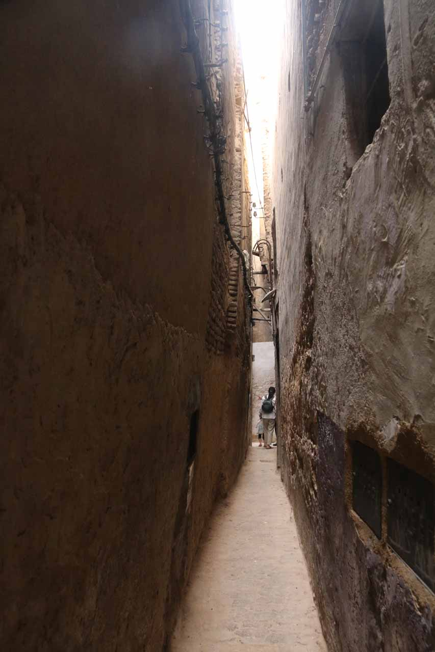 Another very narrow alleyway in the medina of Fes