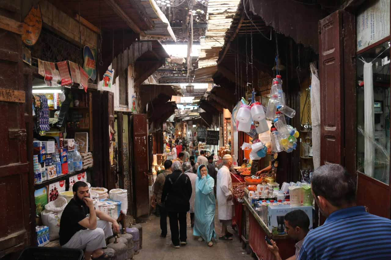 Now walking through more souks as we were busy exploring Fes