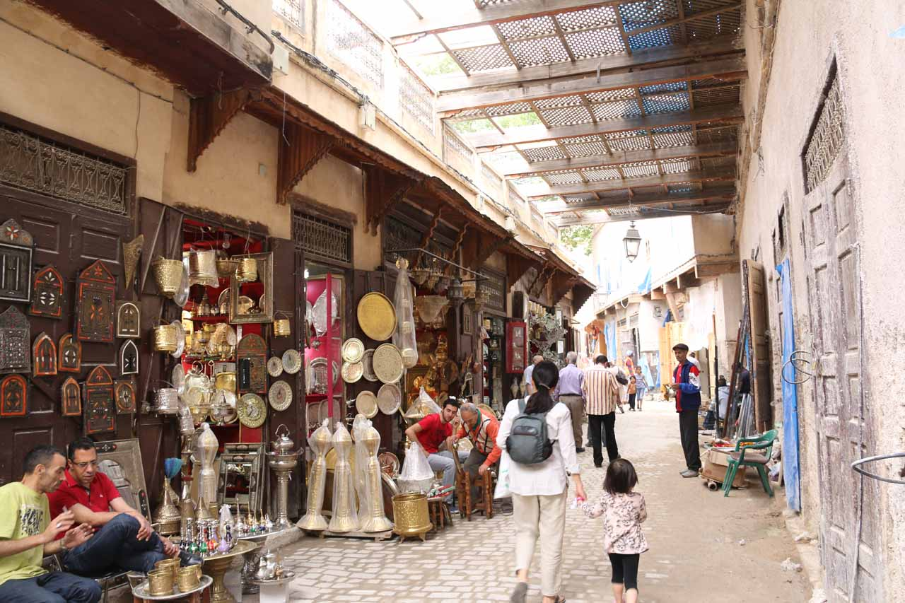 Karim leading us through even more souks in the medina of Fes