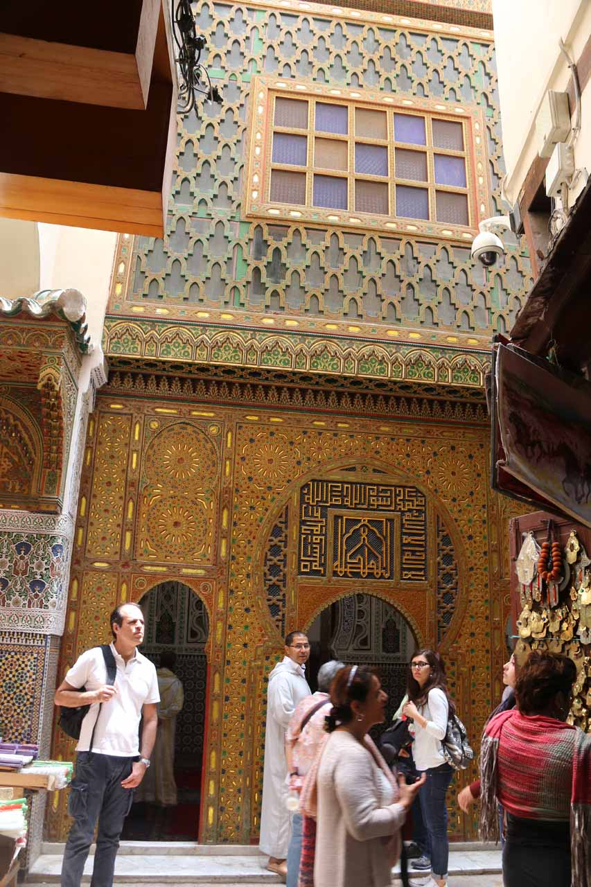 Another very ornate part of the medina of Fes