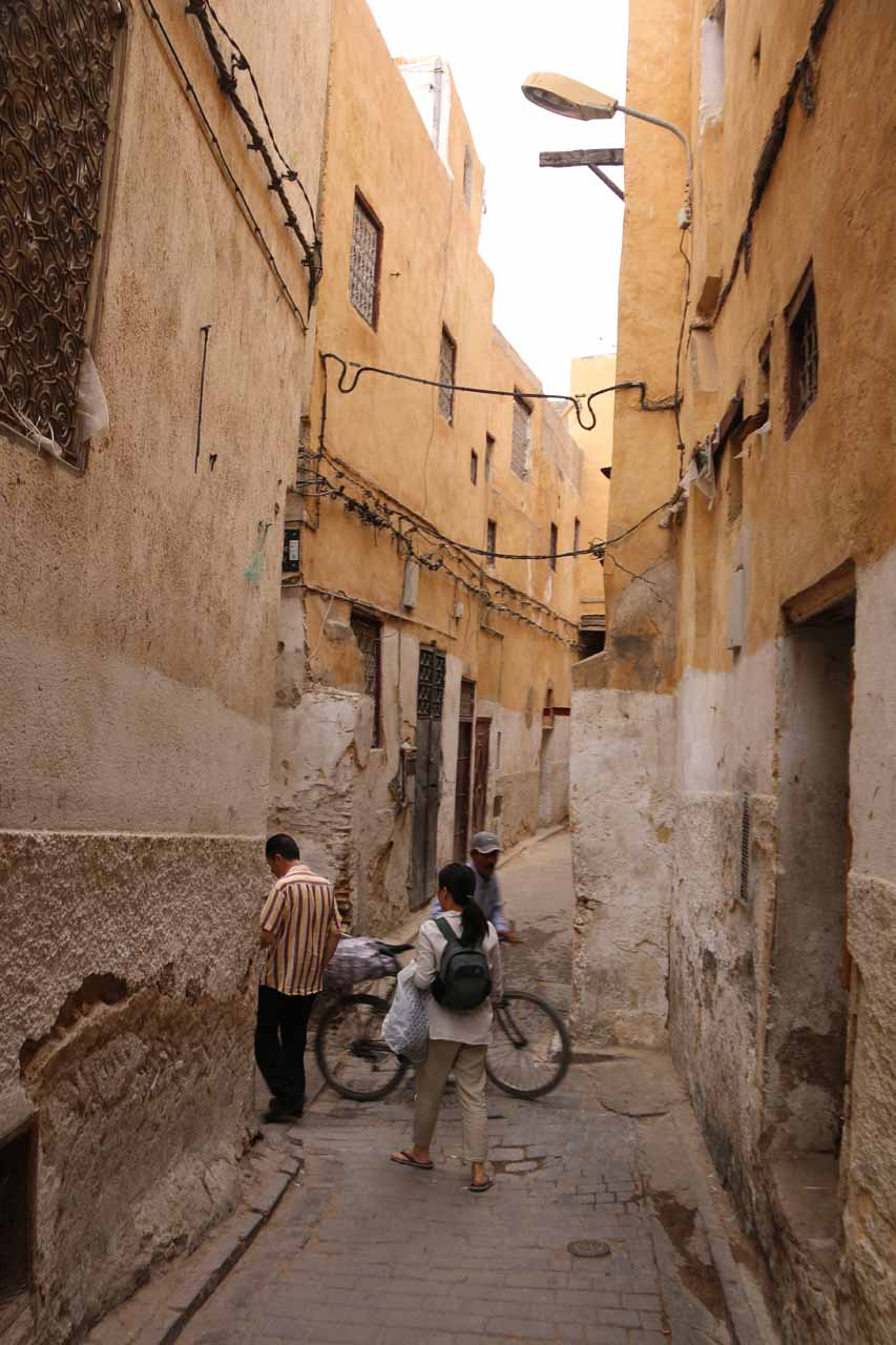 Karim leading us out of the medina and back to our riad