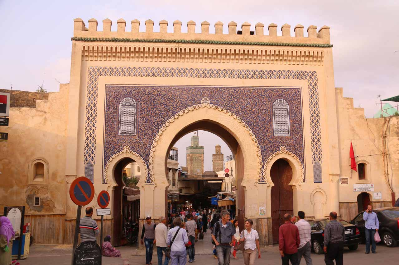 About three hour's drive north of the Sources Oum er-Rbia was the atmospheric and historical city of Fes with its huge medina filled with labyrinths of narrow walkways full of souks and pedestrians