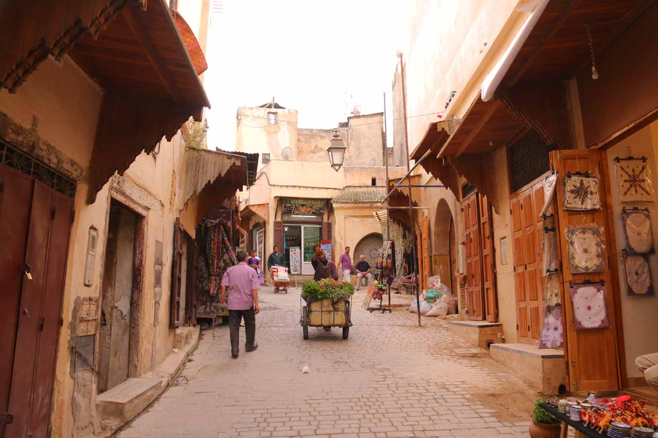Passing through a different and less bustling part of the medina on the way to Souk El Henna