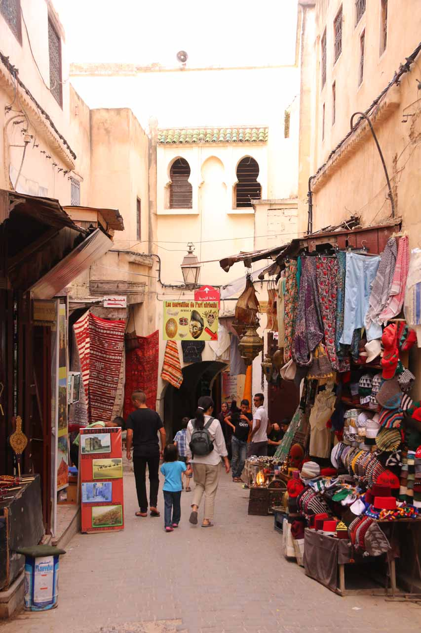 Tahia and Julie passing through yet more souks on the way to Souk El Henna