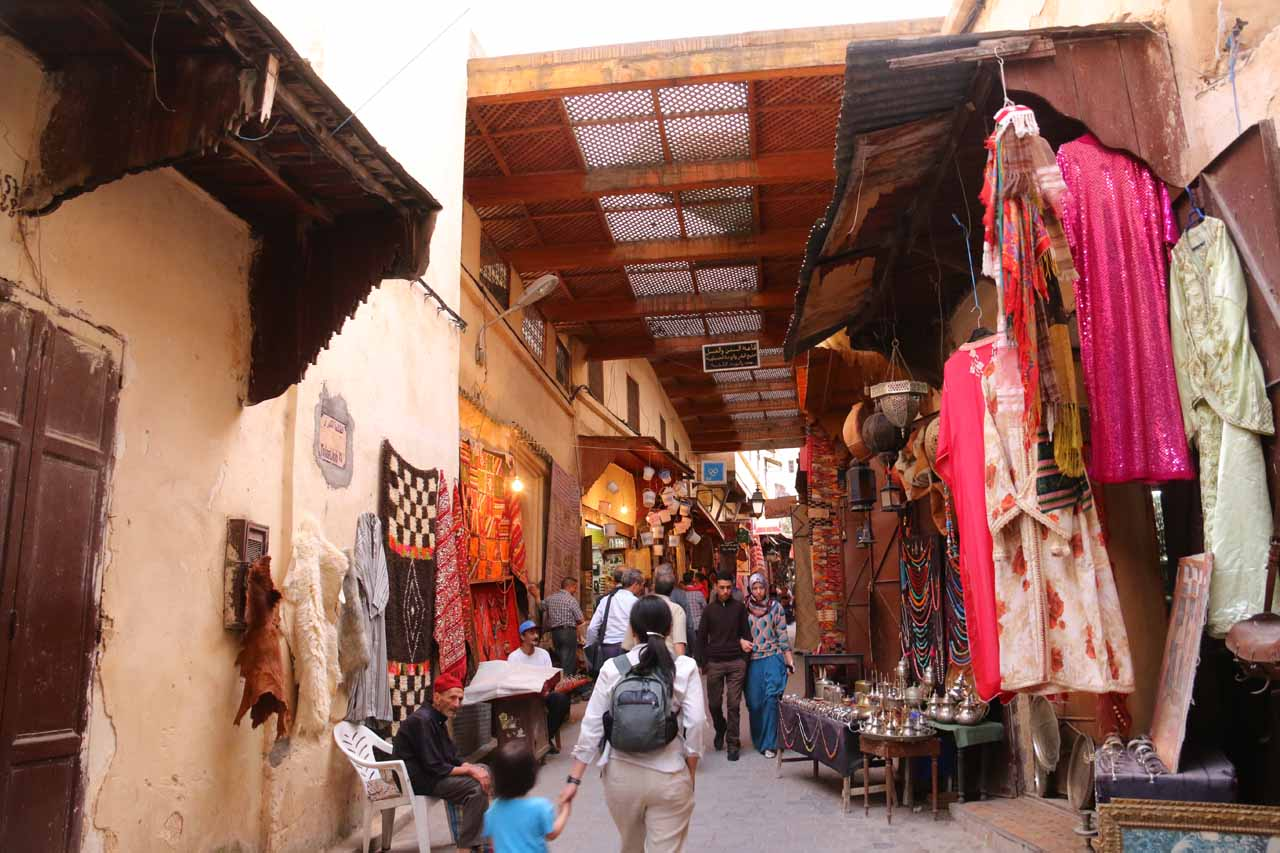 Heading back to our riad passing through the same souks we had encountered on the search for Souk el Henna
