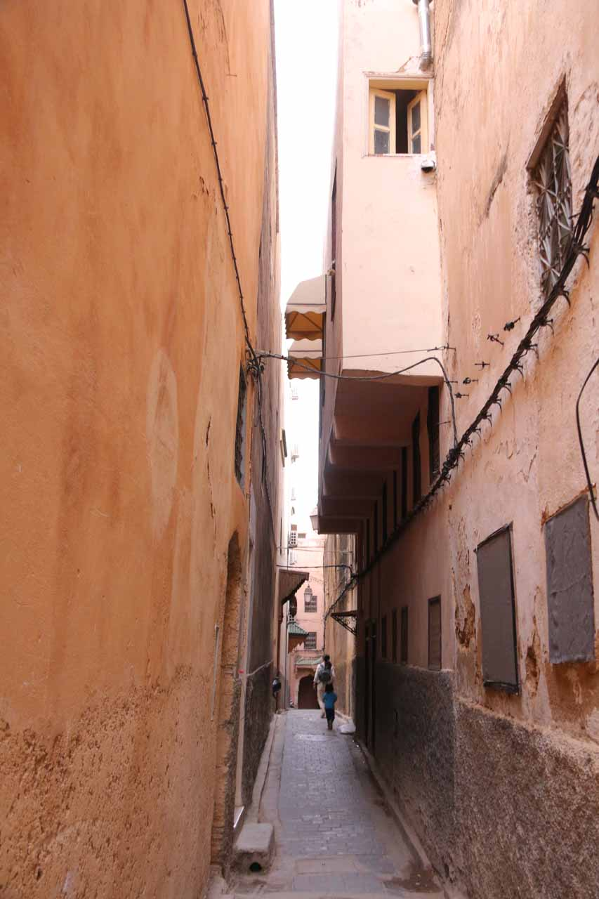 Returning to our riad hidden away in this alleyway