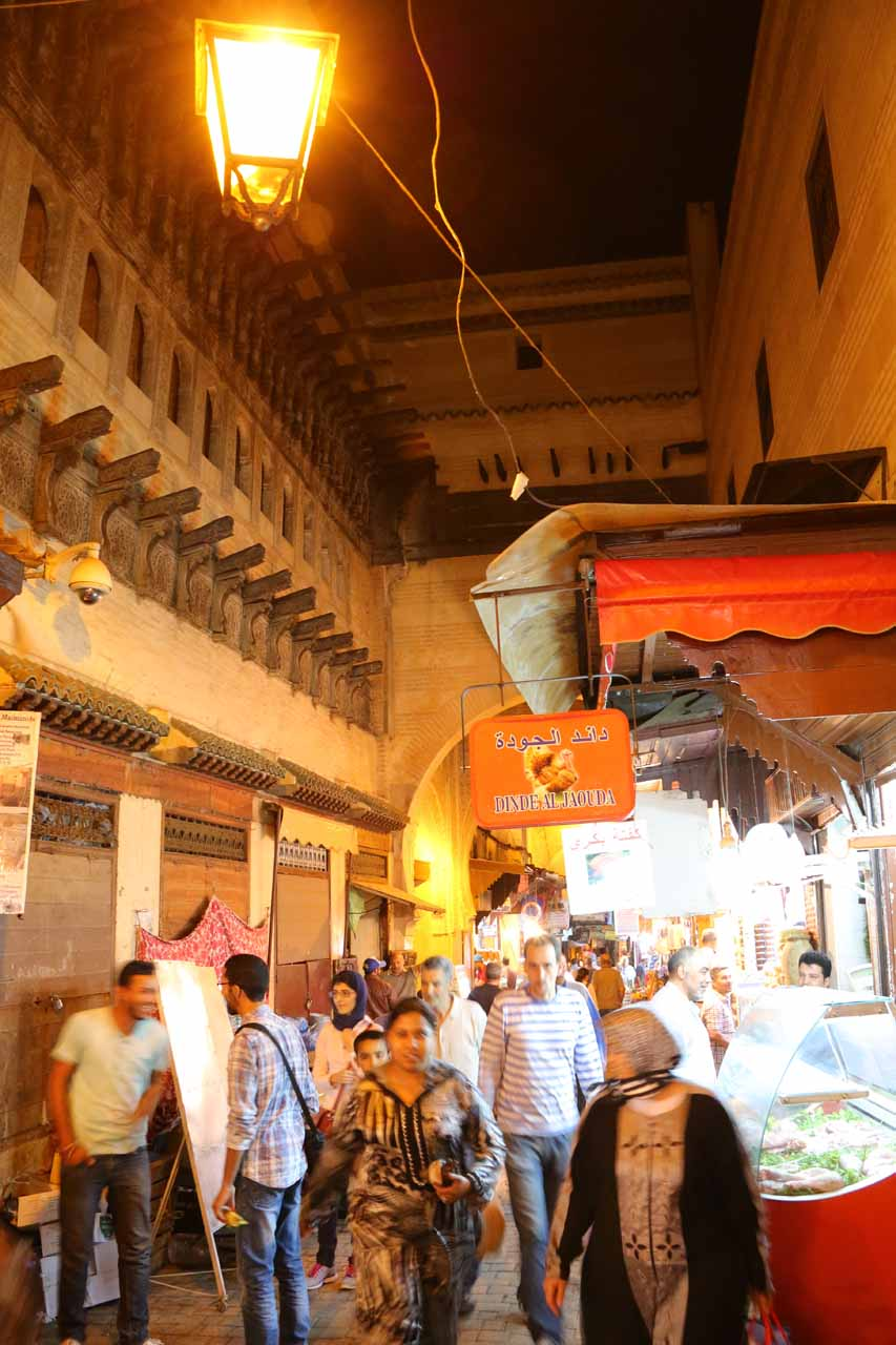 Back in the busy souks beneath the Clock Tower as we were headed back to the riad