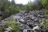 Fettjeafallet_088_07112019 - Looking up at the rockslide area around Fettjeafallet