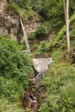 Finsterbach_Waterfalls_057_07112018 - Context of the second of the Finsterbach Waterfalls, which was fronted by a dam