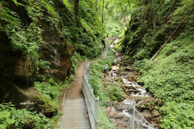Finsterbach_Waterfalls_115_07112018 - The trail to the uppermost of the Finsterbach Waterfalls traversed this gorge where there was a mine as well as some more footbridges over the Finsterbach